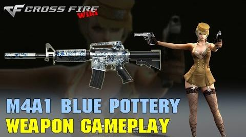 CrossFire - M4A1 Blue Pottery - Weapon Gameplay