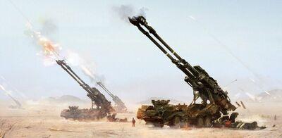 640x314 13550 Cannon 2d sci fi gun concept art game art cannon heavy artillery military picture image digita