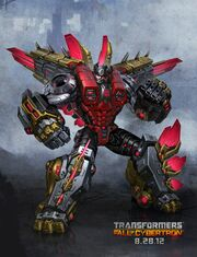 Snarl dinobot transformers fall of cybertron game concept art poster robot mode Stegosaurus 2