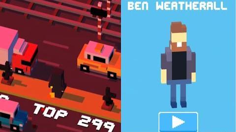 Crossy Road iOS App - How to Unlock Ben Weatherall Secret Character!