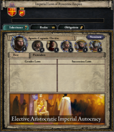 Election for byzantine empire