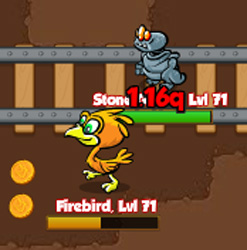 Firebird and stone golem