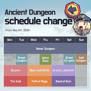 Ancient Dungeon Schedule May 2016