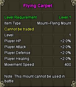 Flying Carpet Stats