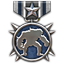 Sebuah medali yang diberikan kepada orang yang menjadi binatang di medan perang