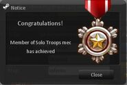 Member of Solo Troops Medal