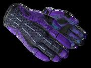 Sporty gloves sporty purple light large
