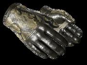 Slick gloves slick snakeskin yellow light large