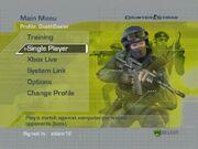 CSX main menu