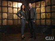 Jessica Lucas as Skye Yarrow and Matt Davis as Jeff Sefton