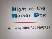 Night of the Weiner Dog Title Card