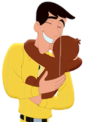 Curious George 4- Ted hugging George 1