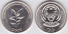 Rwanda 20 francs 2003