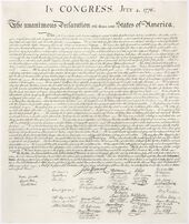 Us declaration independence