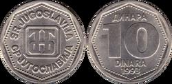 Yugoslavia 10 dinara 1993