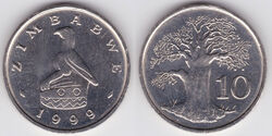 Zimbabwe 10 cents 1999