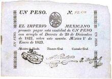 Peso imperial mexicano