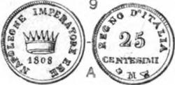 Napoleon 25 centesimi CNI