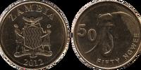 Zambian 50 ngwee coin
