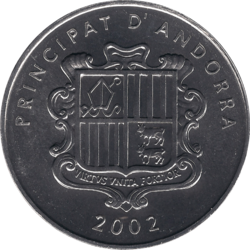 Andorra 1 centim reverse 2002