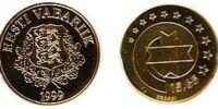 Estonian 15.65 kroon coin