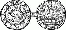 Bermuda sixpence 1616