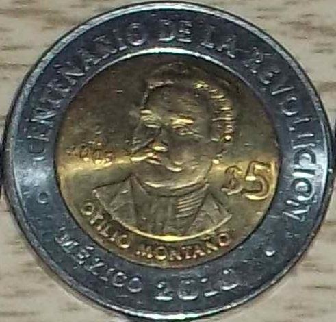 File:Otilio Montano 5 peso coin 2009.jpg