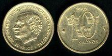 Sweden 10 kronor 1992