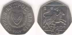 Cyprus 50 cents 2004