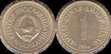 Yugoslavia 1 dinar 1984