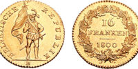 Swiss 16 frank coin