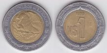 Mexico nuevo peso 1995