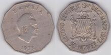 Zambia 50 ngwee 1972 2nd Rep