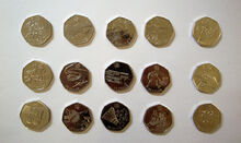 2011 50p Olympic coins
