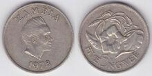 Zambia 5 ngwee 1978