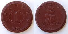 Saxony 1 mark 1921