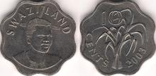 Swaziland 10 cents 2003
