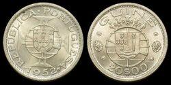 P. Guinea 20 escudos 1952