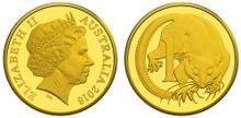 Australia 1 cent 2016 gold