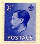 Edward VIII 2½ pence stamp
