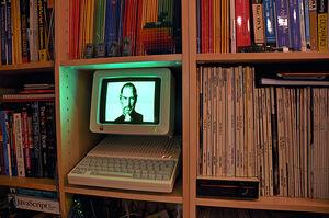 Steve Jobs rendered in Applesoft BASIC