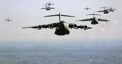 US Air Force C-17 Globemaster III formation