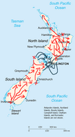 Movement of the front in NZ