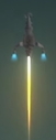 D3 rockets upward