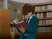 Joe Shimamura in the library.