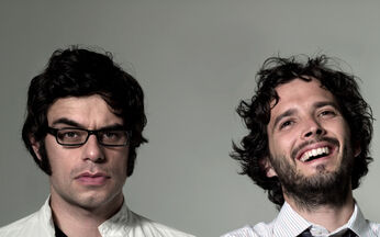 Tie glasses flight of the conchords bret mckenzie jemaine clement men with glasses wallpaper