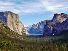 Yosemite Valley from Wawona Tunnel view, vista point.