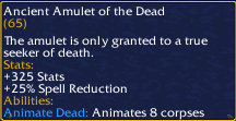Ancient Amulet of the Dead
