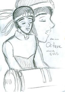 """Concept art for Octave for the """"One More Time"""" video"""