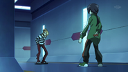 Yuuya caught by Kirito